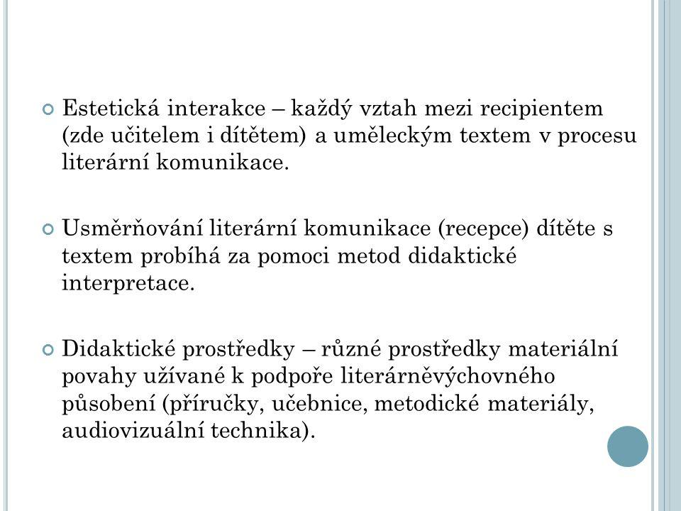 Fáze procesu literárněvýchovného působení: Úplný přehled fází literárněvýchovné práce s textem, v této úplnosti se realizuje zejména při práci vytvářející základy interpretačního uvažování, u jiných typů LV působení se realizují pouze fáze (činnosti) některé.