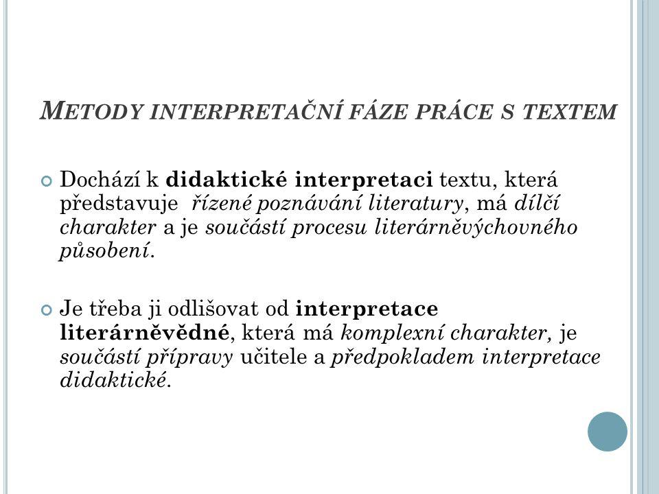Při každé interpretaci probíhají tzv.