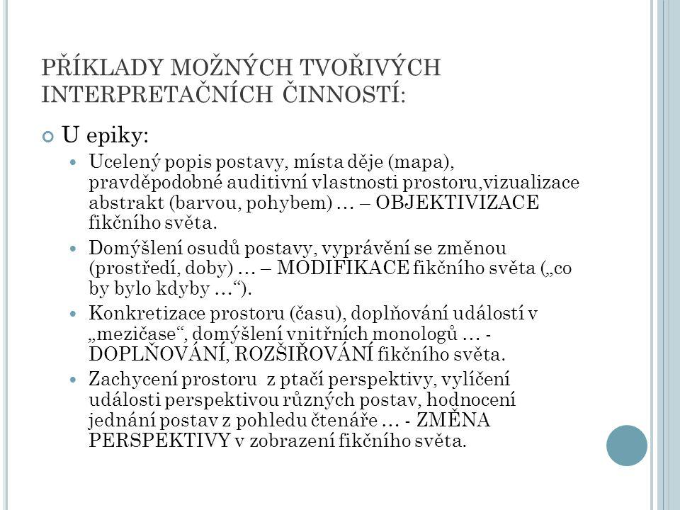 U lyriky: Tvořivý přístup k lyrice vyžaduje respektování hranic stanovených lyrickým subjektem.