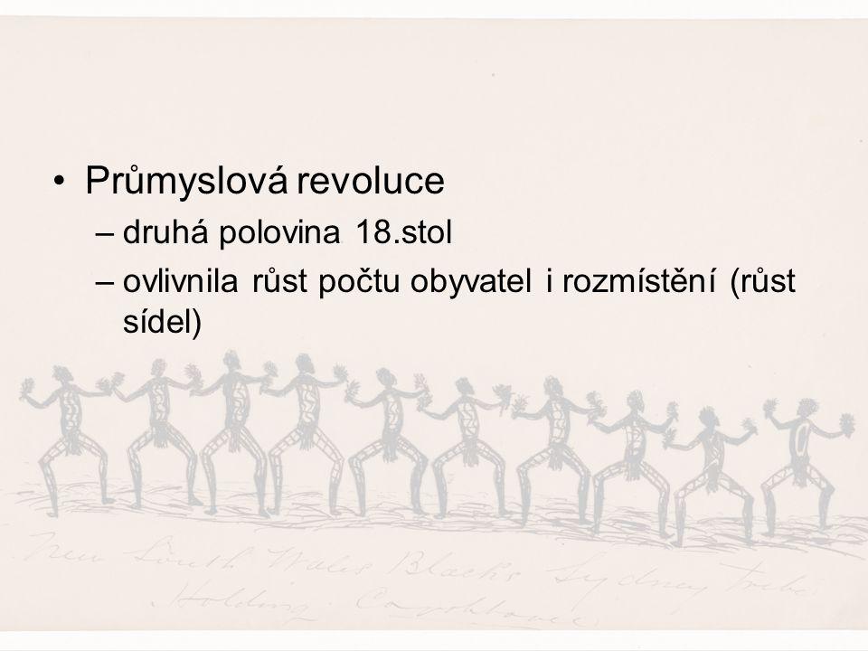 Demografická revoluce (4 fáze) –1.malý přírůstek –2.