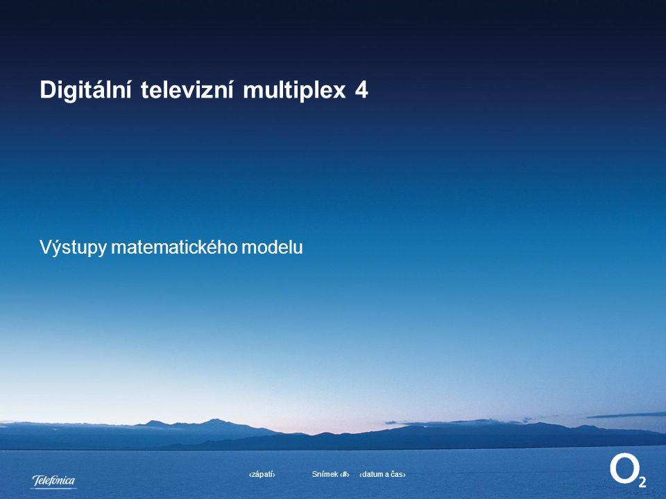 ‹datum a čas›‹zápatí›Snímek ‹#› Digitální televizní multiplex 4 Výstupy matematického modelu