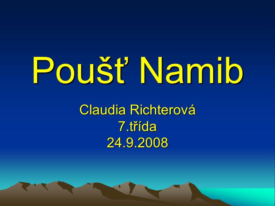 Ostrov Namib – umístění Poušť Namib je rozlehlá poušť v jihozápadní Africe.