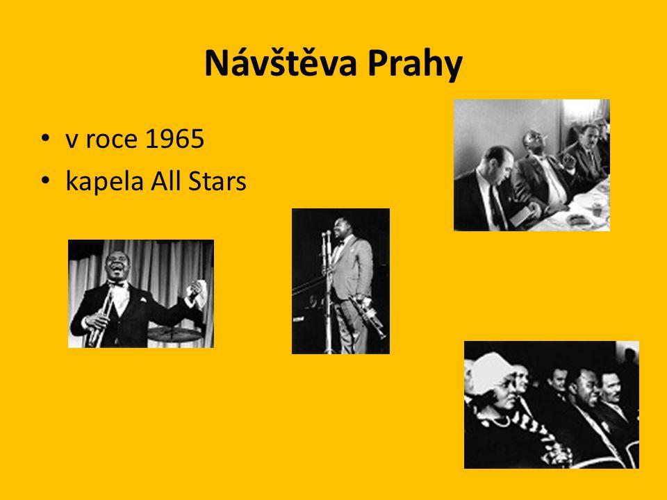Návštěva Prahy v roce 1965 kapela All Stars