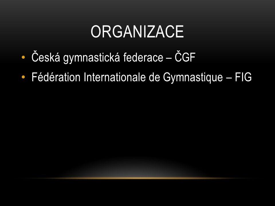 ORGANIZACE Česká gymnastická federace – ČGF Fédération Internationale de Gymnastique – FIG