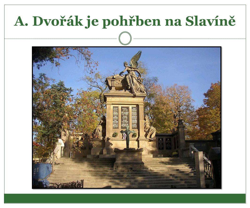 A. Dvořák je pohřben na Slavíně