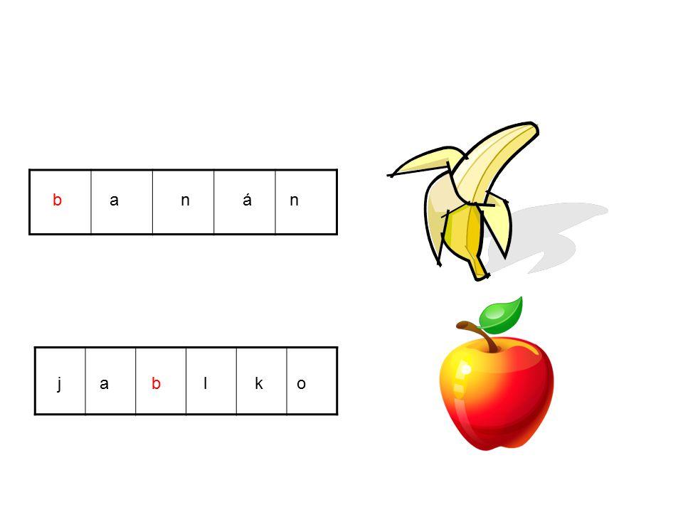 b a n á n j a b l k o