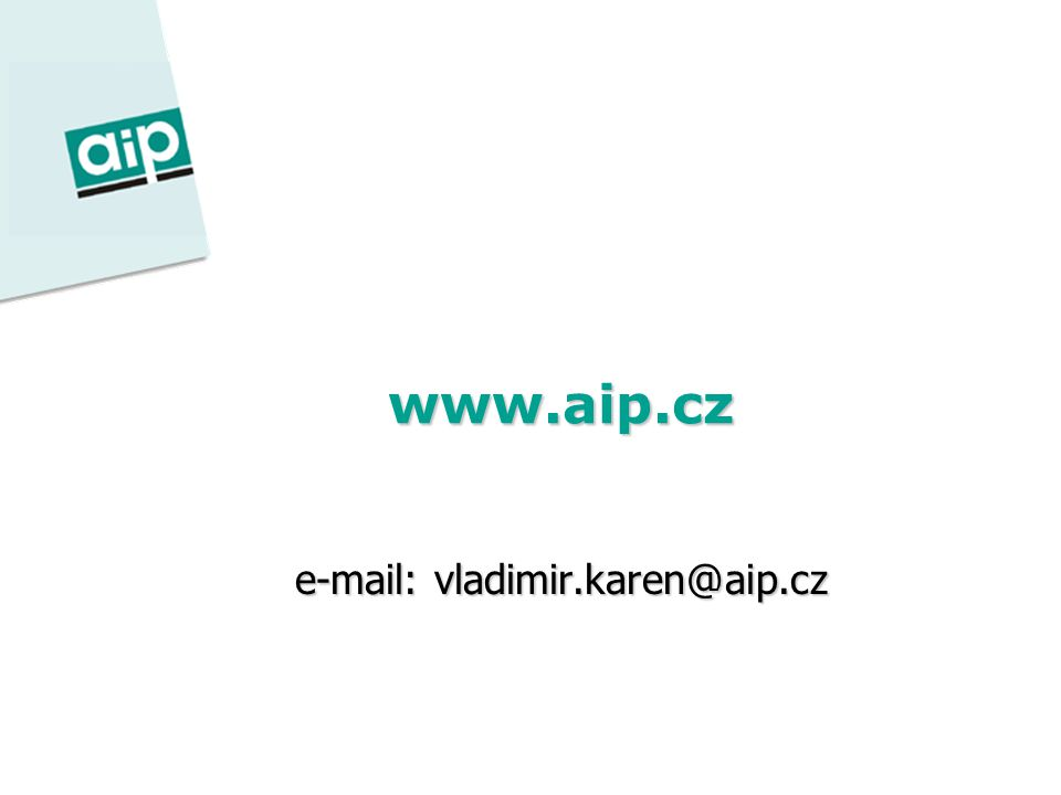 www.aip.cz e-mail: vladimir.karen@aip.cz