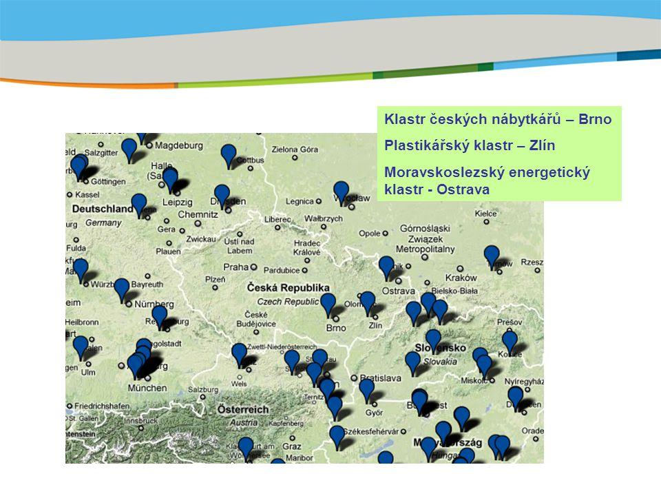 Title of the presentation | Date |‹#› Klastr českých nábytkářů – Brno Plastikářský klastr – Zlín Moravskoslezský energetický klastr - Ostrava