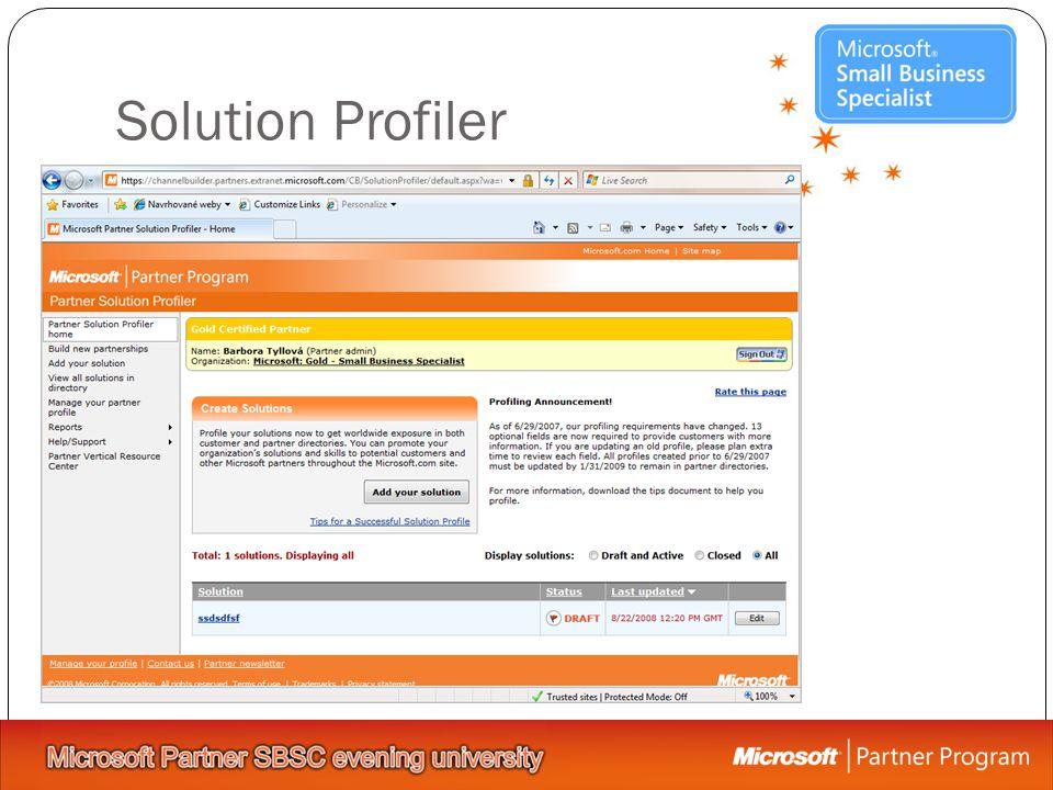 Solution Profiler