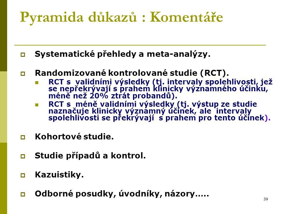 40 Pro další vzdělávání  http://ucebnice.euromise.cz Statistické metody v epidemiologii