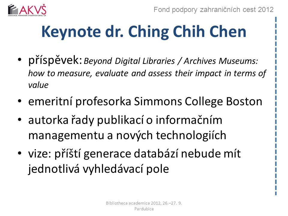 Fond podpory zahraničních cest 2012 Keynote dr.