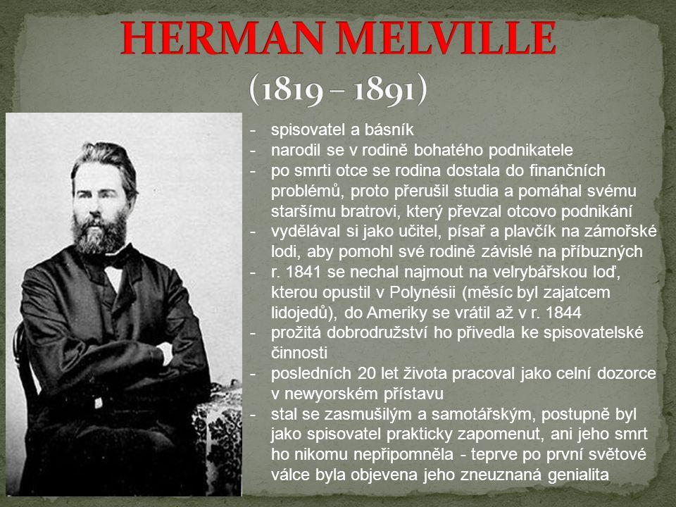 -spisovatel a básník -narodil se v rodině bohatého podnikatele -po smrti otce se rodina dostala do finančních problémů, proto přerušil studia a pomáha
