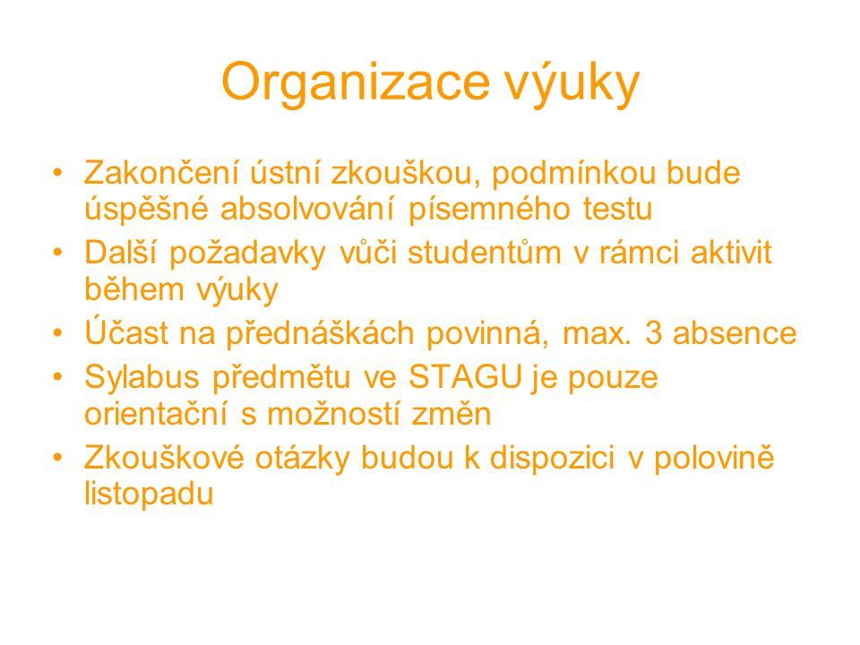 Prameny ke studiu Základní literatura: Damohorský a kol.: Právo životního prostředí, C.