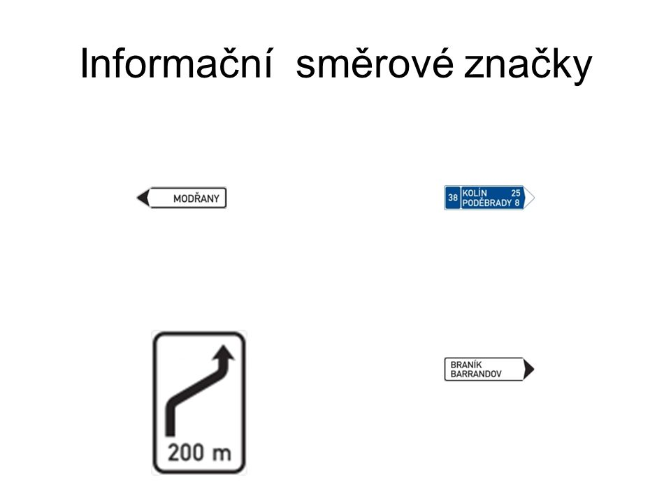 Informační směrové značky