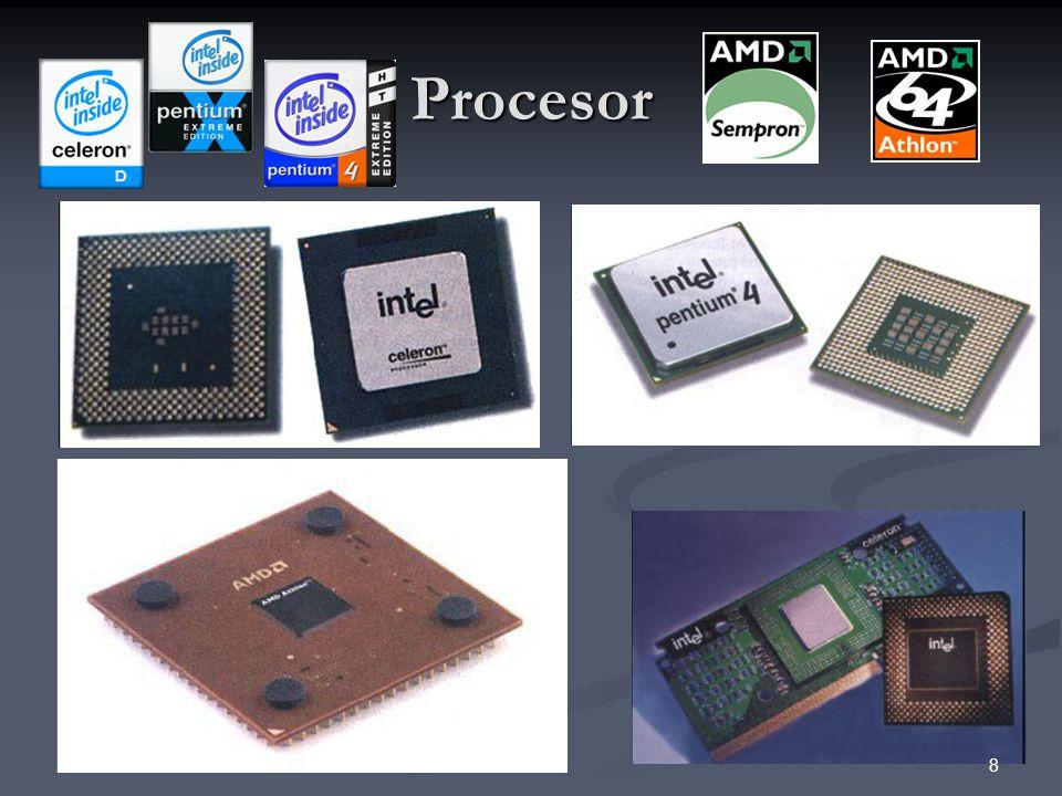 Procesory INTEL 8086 8086 80286 80286 80386 (SX) 80386 (SX) 80486 (SX, DX) 80486 (SX, DX) Pentium Pentium Pentium MMX, Pentium Pro Pentium MMX, Pentium Pro Pentium II Pentium II Celeron Celeron Pentium 4 (LGA775) Pentium 4 (LGA775) CORE 2 (vícejádrové) CORE 2 (vícejádrové) 9