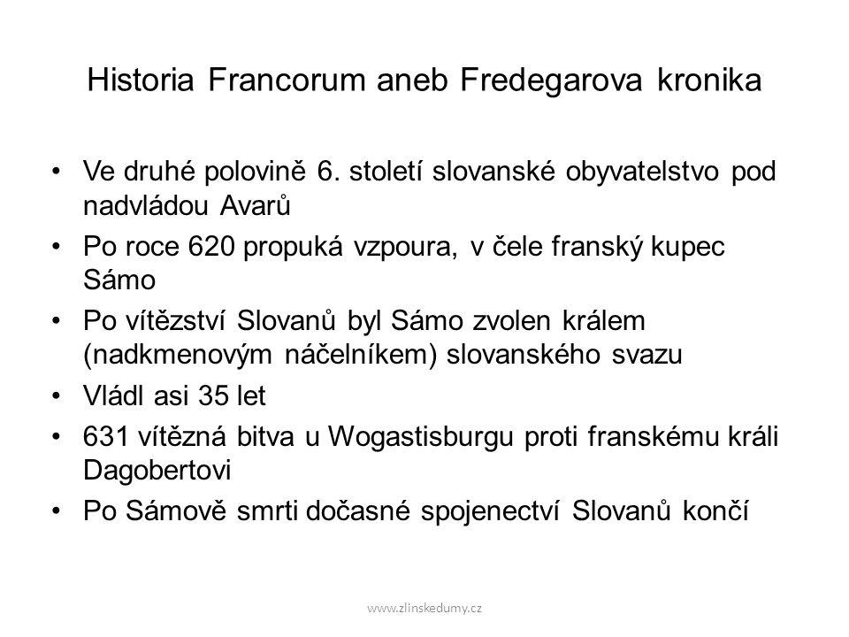 www.zlinskedumy.cz Možná lokalizace Wogastisburgu, přesné místo není dodnes známo