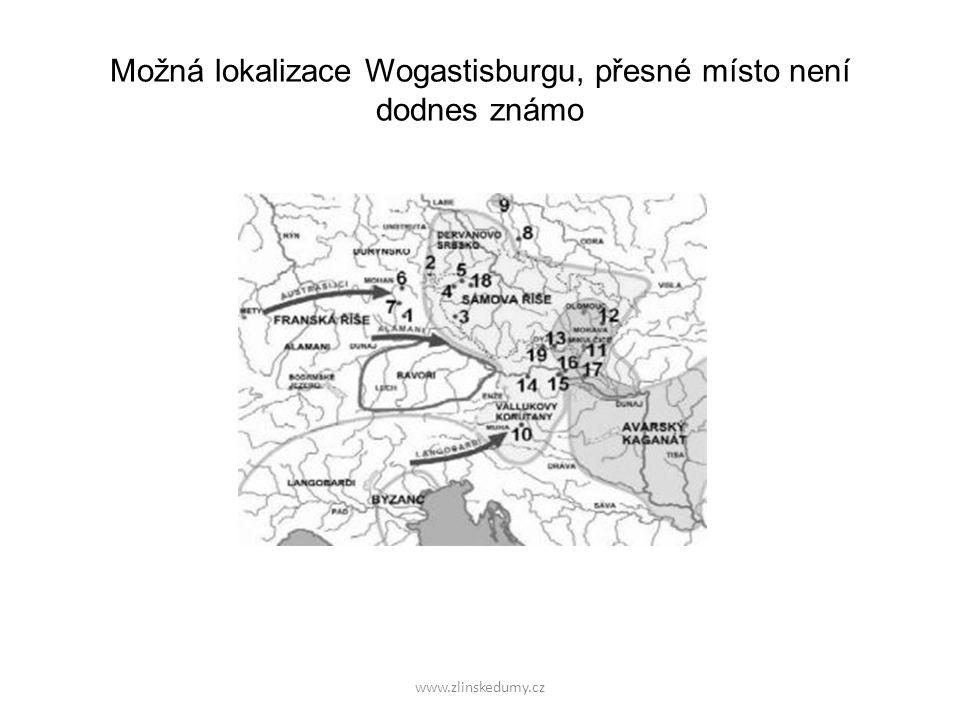 www.zlinskedumy.cz Po Sámově smrti neexistují o našem území žádné písemné zprávy po dobu více než 120 let