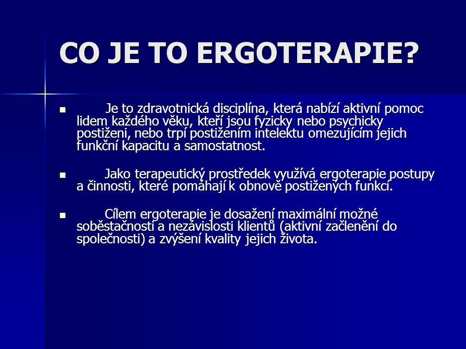CO JE TO ERGOTERAPIE.