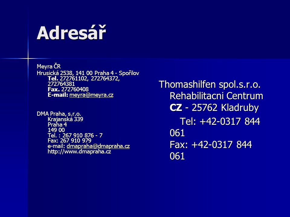 Adresář Meyra ČR Hrusická 2538, 141 00 Praha 4 - Spořilov Tel.