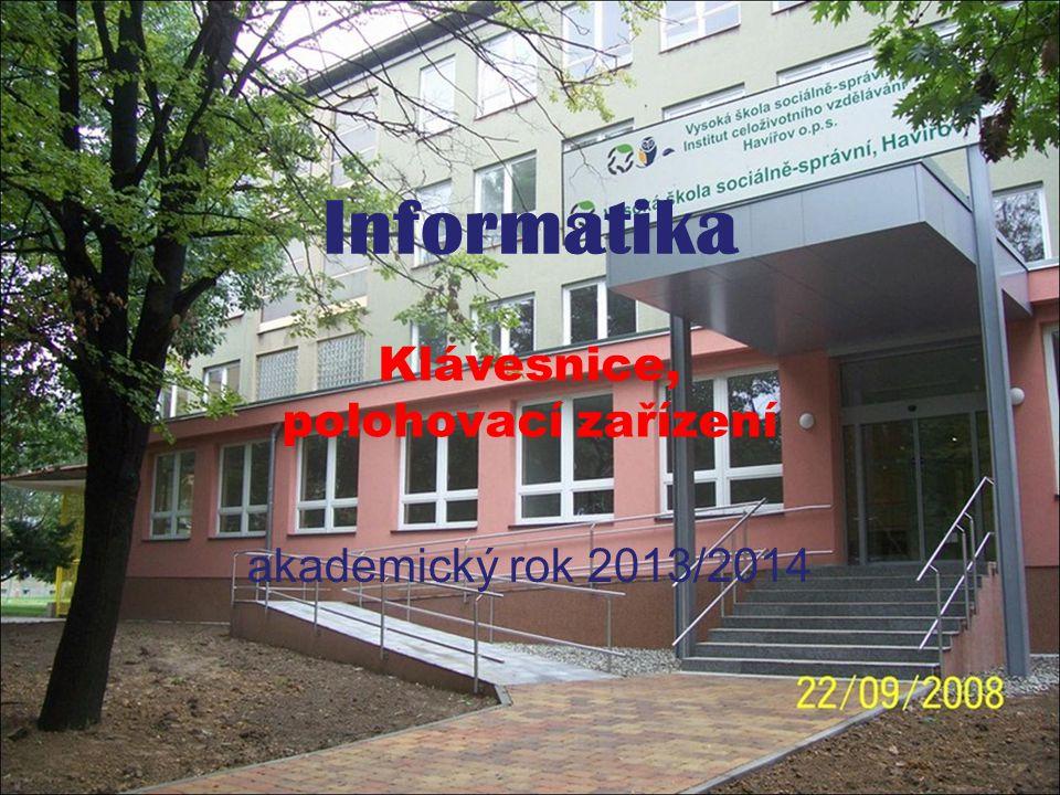 Informatika akademický rok 2013/2014 Klávesnice, polohovací zařízení