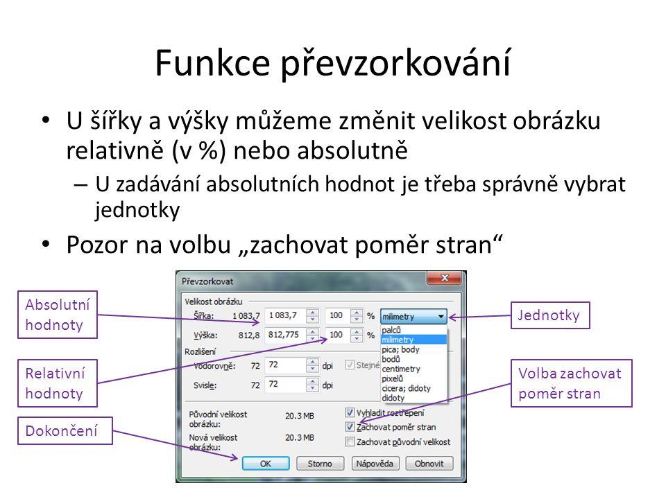 """Volba """"zachovat poměr stran Pokud tato funkce není zapnuta, může dojít k deformaci obrázku (změna poměru stran obrázku)"""