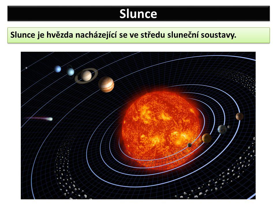 Slunce Hmotnost Slunce je asi 330 000 krát větší než hmotnost Země.