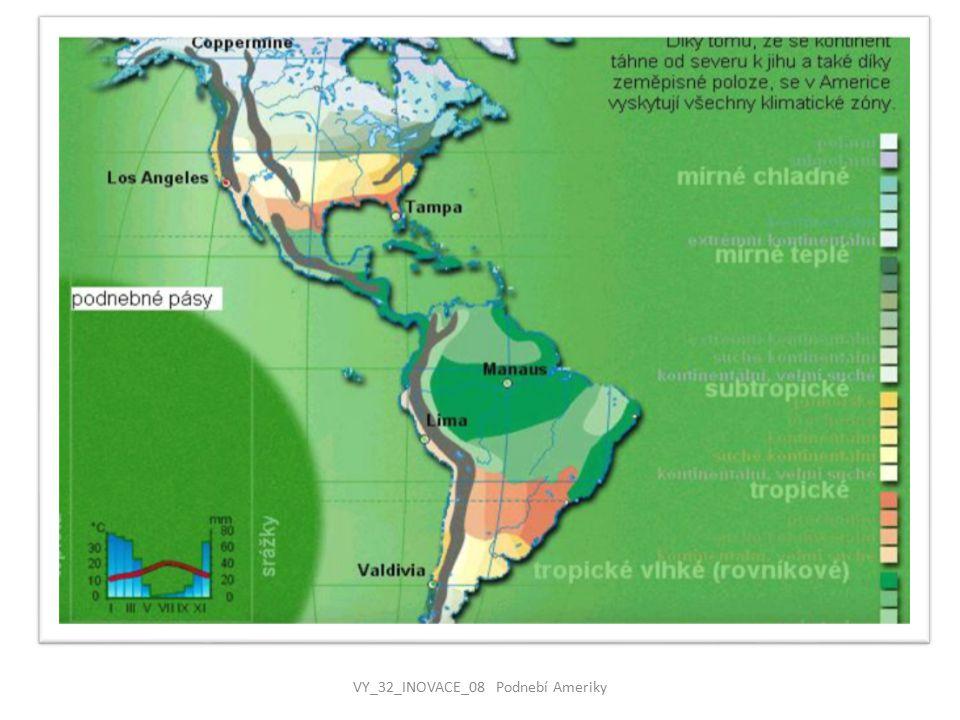 ZASTOUPENÍ PODNEBNÝCH PÁSŮ NA ÚZEMÍ AMERIKY  kvůli protaženému území v severojižním směru se v Americe rozkládají všechny podnebné pásy  SEVERNÍ AMERIKA se od severu postupně rozkládá v polárním a subpolárním pásu /Aljaška, Kanada/, mírném /Kanada, USA/, subtropickém /USA – jih, Mexiko/ a tropickém /Střední Amerika a Karibik/  Převážná část území Severní Ameriky leží v mírném pásu.