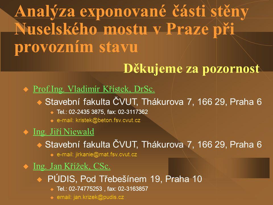  Prof.Ing. Vladimír Křístek, DrSc. u Stavební fakulta ČVUT, Thákurova 7, 166 29, Praha 6  Tel.: 02-2435 3875, fax: 02-3117362  e-mail: kristek@beto