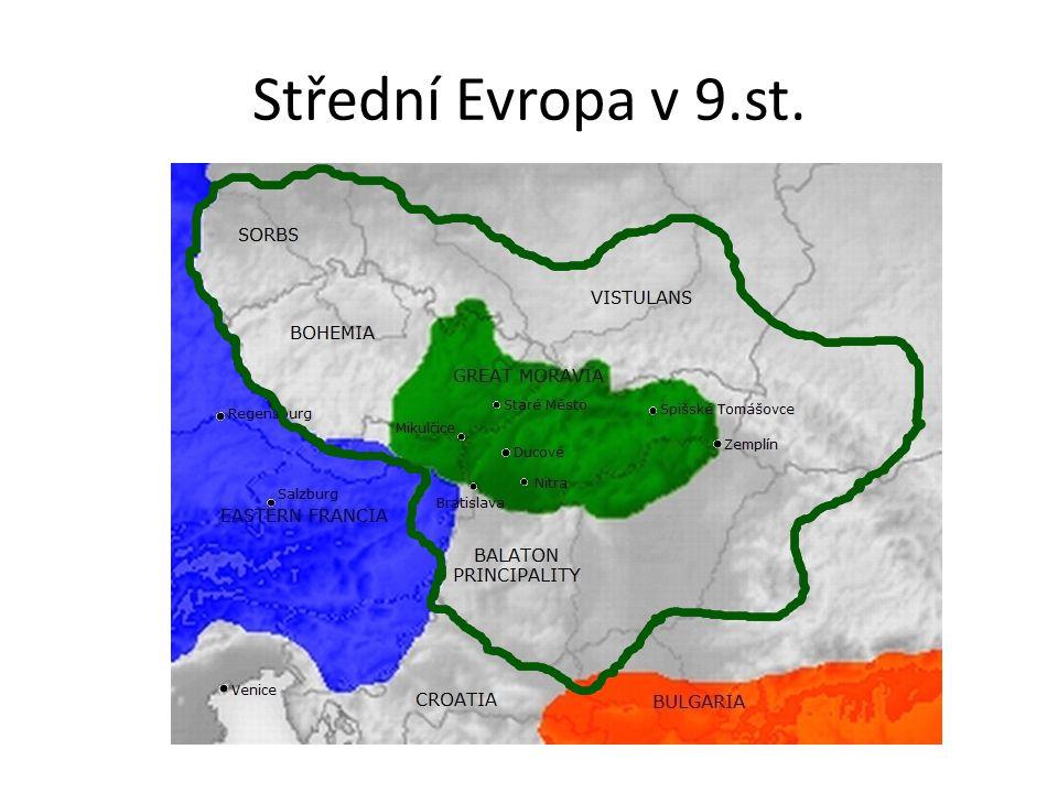 Střední Evropa v 9.st.