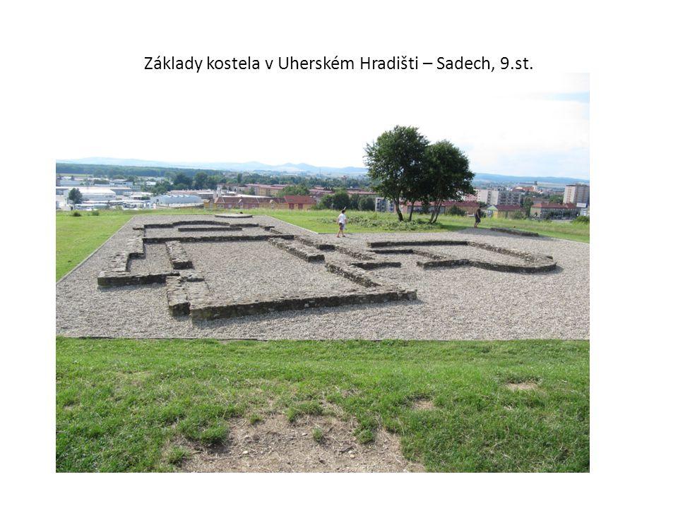 Základy kostela v Uherském Hradišti – Sadech, 9.st.