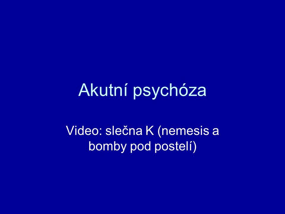 Akutní psychóza Video: slečna K (nemesis a bomby pod postelí)