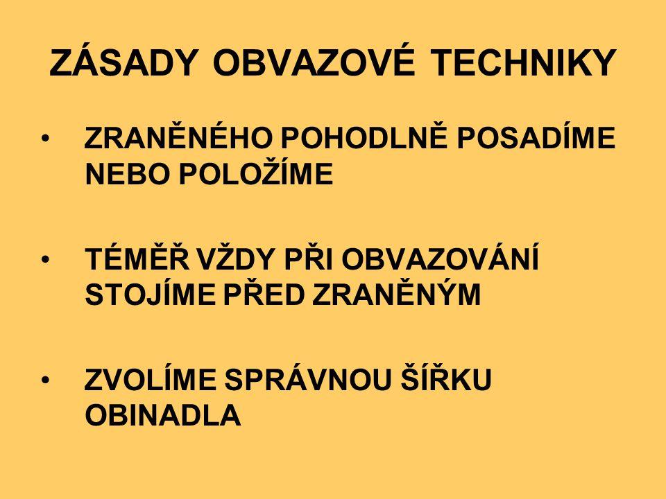 Téma: Obvazová technika - Zdravověda- 9.třída Použitý software: držitel licence - ZŠ J.