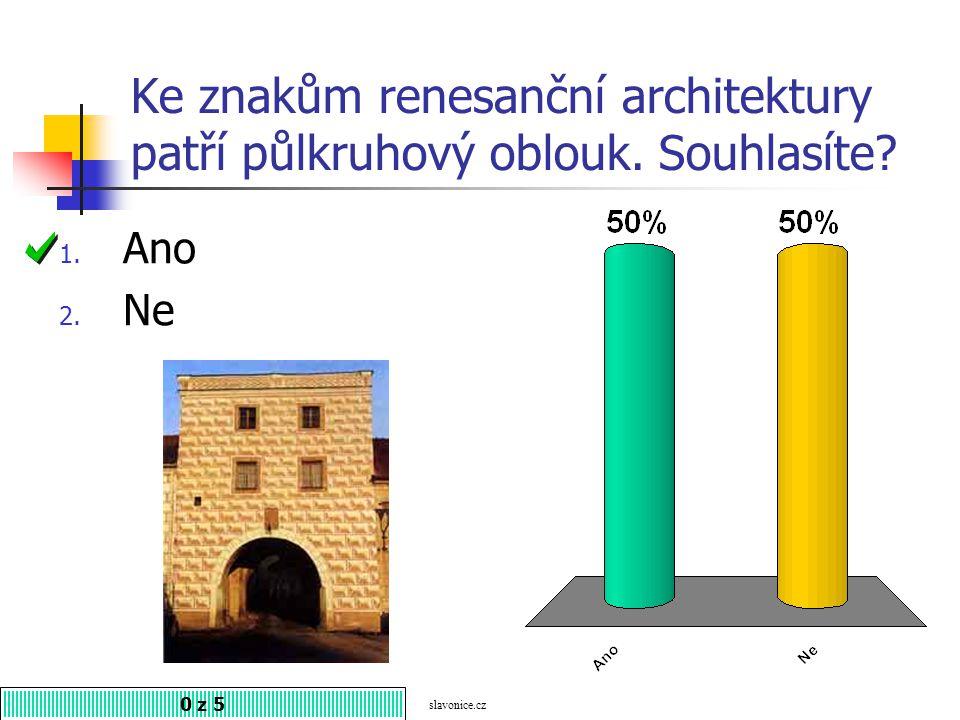 Na obrázku je zámek v Litomyšli. Souhlasíte? 1. Ano 2. Ne 0 z 5 zamky-hrady.eu