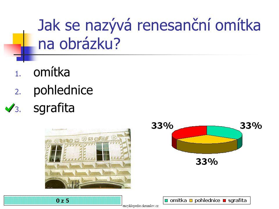 U renesanční architektury mohou být i sdružená okna. Souhlasíte? 1. Ano 2. Ne 0 z 5