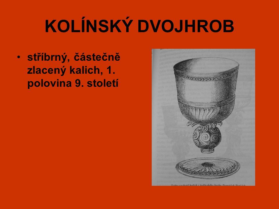 KOLÍNSKÝ DVOJHROB stříbrný, částečně zlacený kalich, 1. polovina 9. století