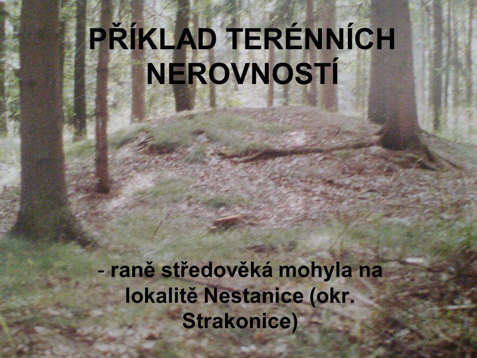 PŘÍKLAD TERÉNNÍCH NEROVNOSTÍ - raně středověká mohyla na lokalitě Nestanice (okr. Strakonice)