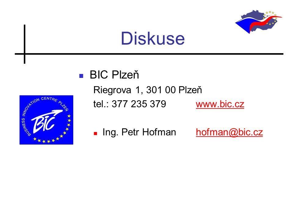 Diskuse BIC Plzeň Riegrova 1, 301 00 Plzeň tel.: 377 235 379 www.bic.czwww.bic.cz Ing.