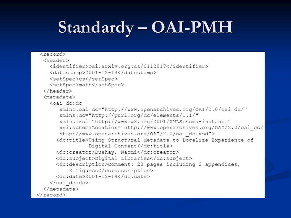 Standardy – OAI-PMH