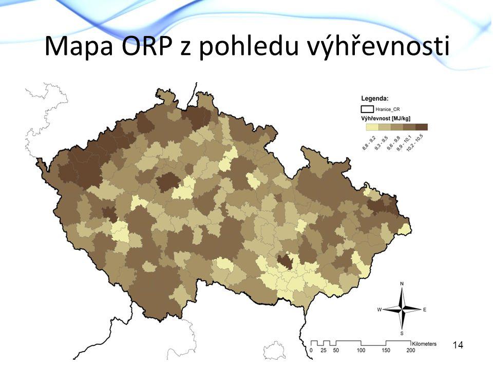 Mapa ORP z pohledu výhřevnosti 14