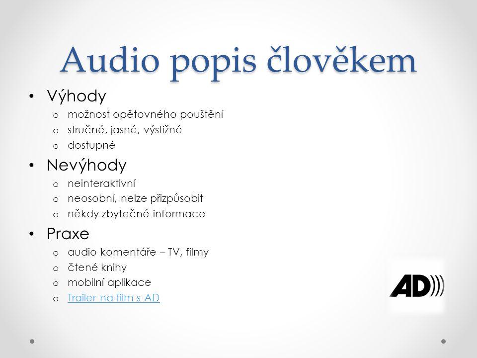 Audio popis TTS