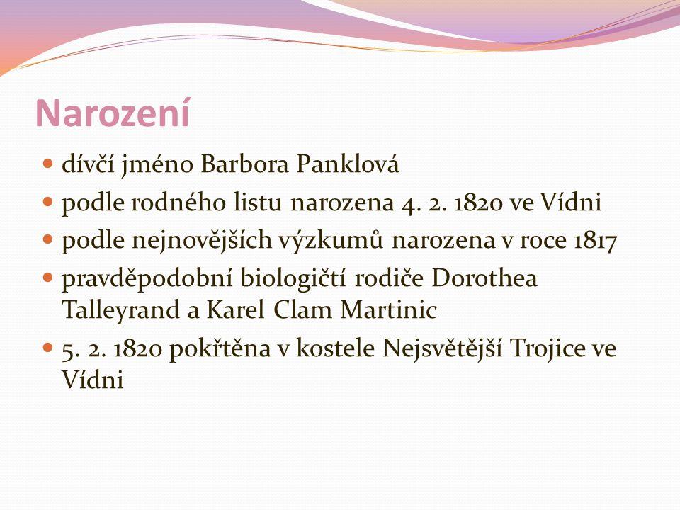 Narození dívčí jméno Barbora Panklová podle rodného listu narozena 4.