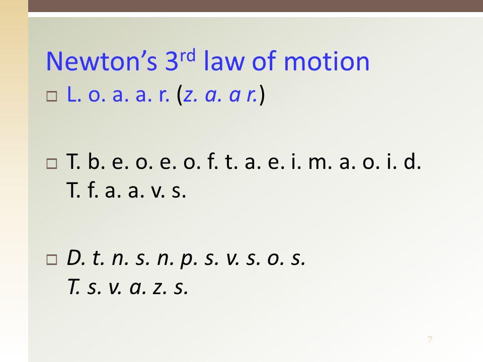 8  (z.z. h.)  T. t. l. m. o. a. i. s. o. b. i. c.