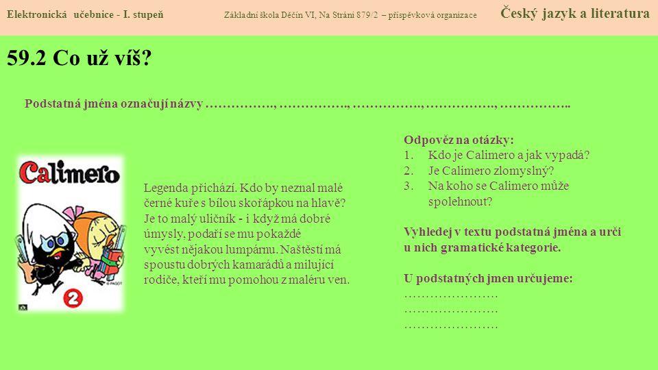 59.3 Jaké si řekneme nové termíny a názvy.Elektronická učebnice - I.