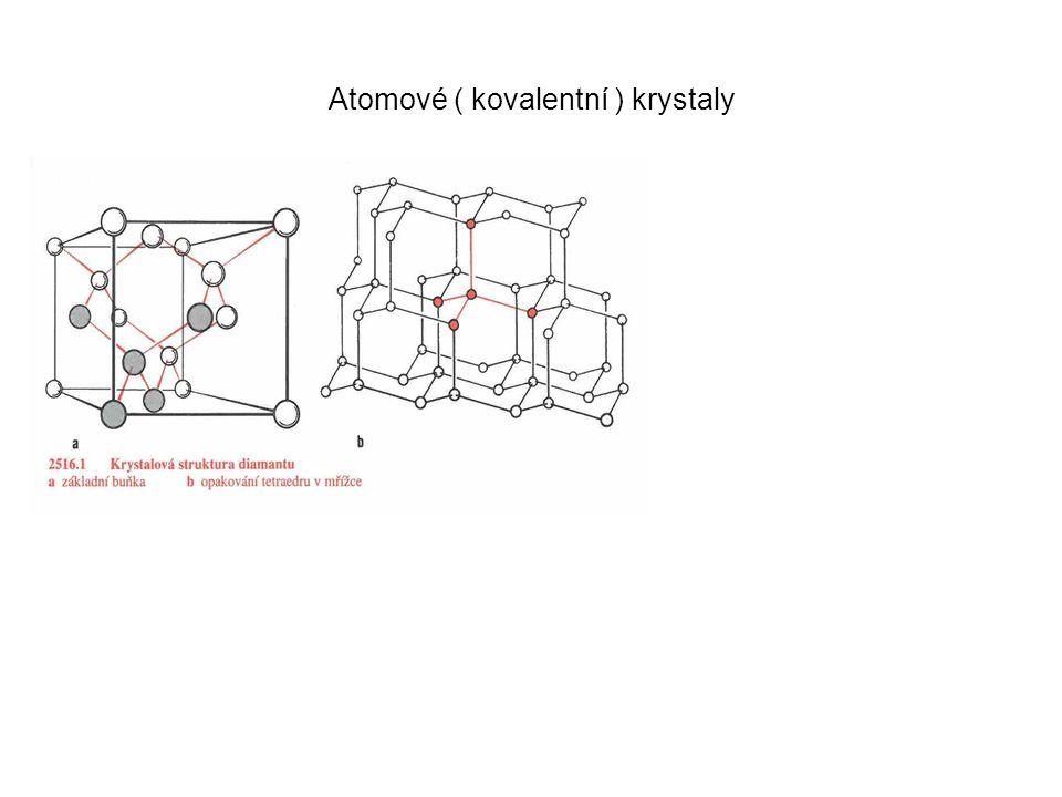 Atomové ( kovalentní ) krystaly