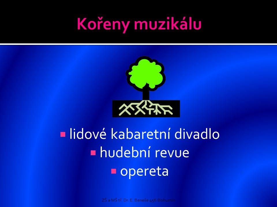  lidové kabaretní divadlo  hudební revue  opereta ZŠ a MŠ tř. Dr. E. Beneše 456 Bohumín