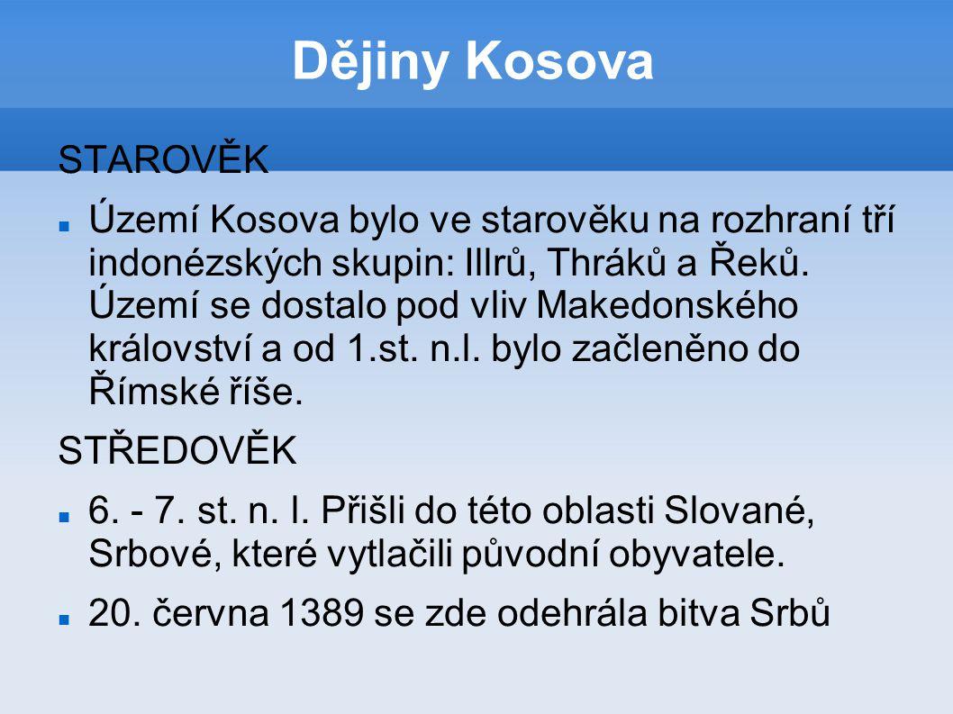 proti osmanským Turkům – bitva na Kosově poli.