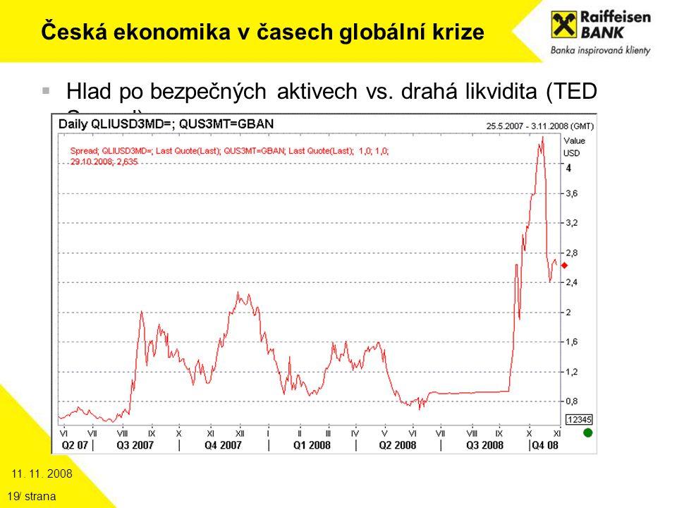 11. 11. 2008 / strana19 Česká ekonomika v časech globální krize  Hlad po bezpečných aktivech vs.