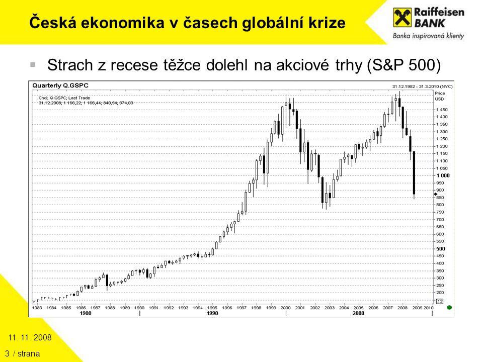 11. 11. 2008 / strana14 Česká ekonomika v časech globální krize