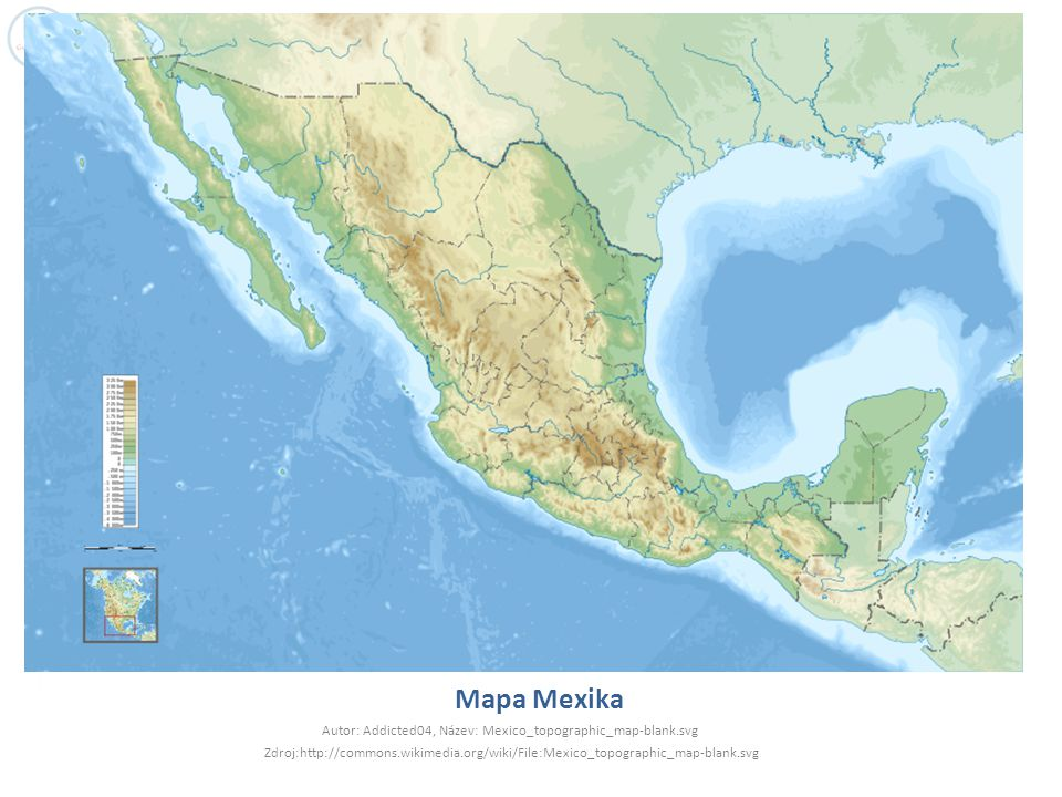 Přírodní poměry  Povrch - tektonicky aktivní zóny a pohoří až na 75% rozlohy státu  Jediné nížiny na pobřeží a Yucatanu, Mexická náh.