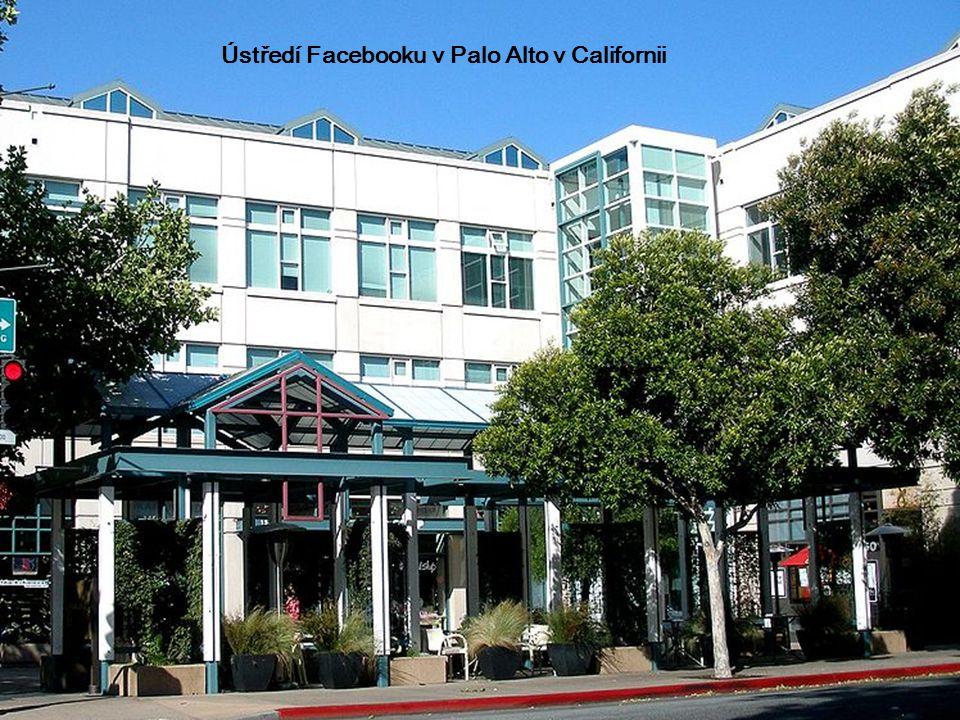 Ústředí Facebooku v Palo Alto v Californii